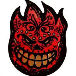 VATH Spitfire Flame Head Red Chrome Sticker 60mmW x 80mmH C61 3 1//8 H x 2 5//8 W